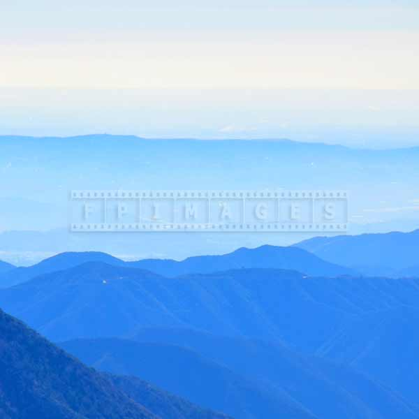 Blue color natural gradient in the mountain photo