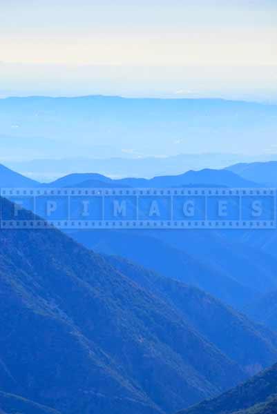 Amazing blue colors in mountains landscape