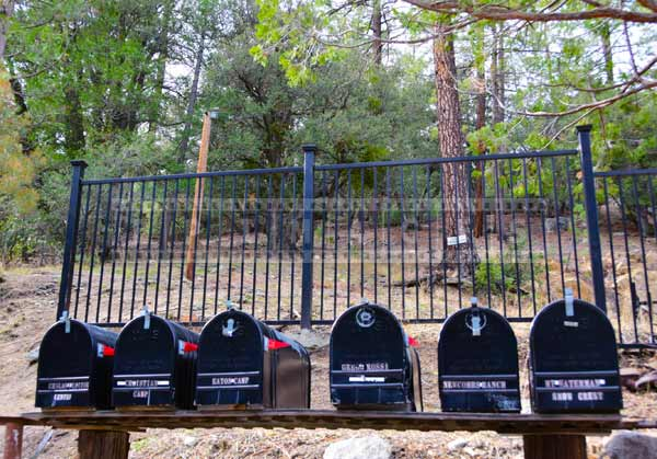Scenic picture of mailboxes