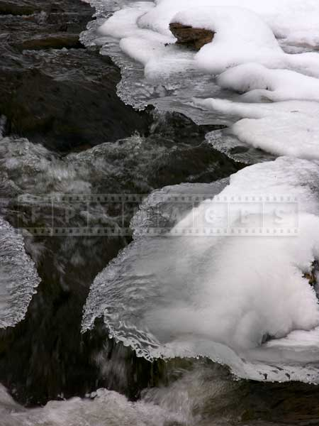 Desktop backgrounds ideas - winter waterfall details photo