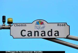 Scenic Canada street ( chemin), Edmundston, New Brunswick