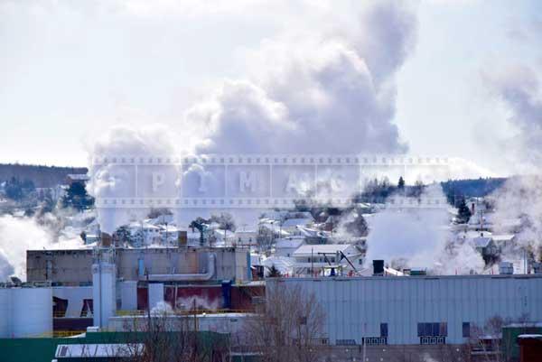 Madawaska paper mill, urban industrial cityscape