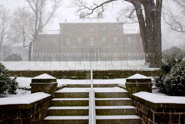 Backyard view of the Lieutenant governor house in Halifax, winter picture