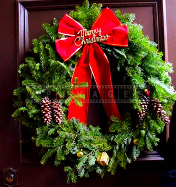 Winter decorations at government house - christmas wreath