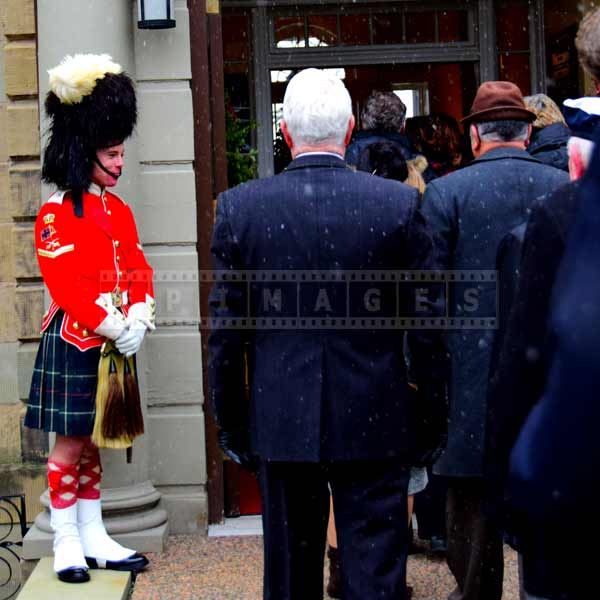 Visitors entering the Lieutenant governor residence in Halifax