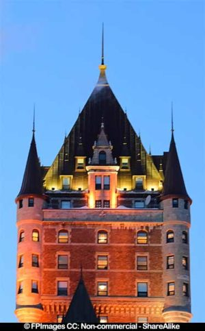 Chateau Frontenac, beautiful European architecture
