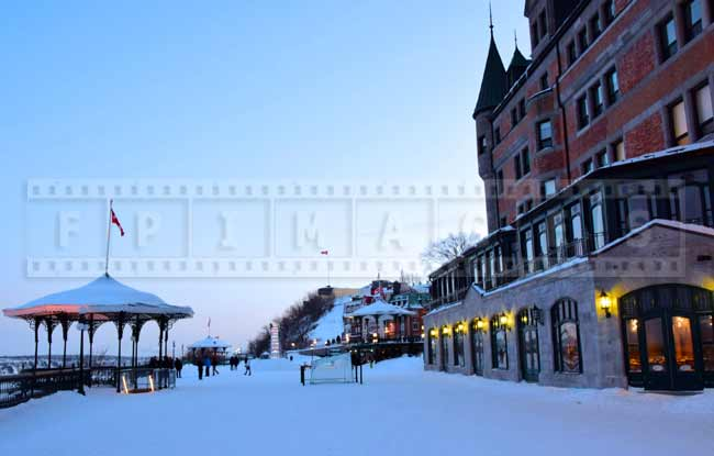 Governor's promenade near Chateau Frontenac, winter picture