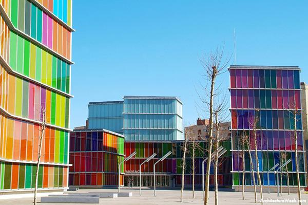 images of colorful modern buildings in spain