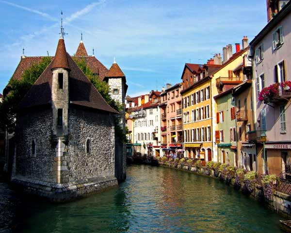 Pretty canal in Annecy, France