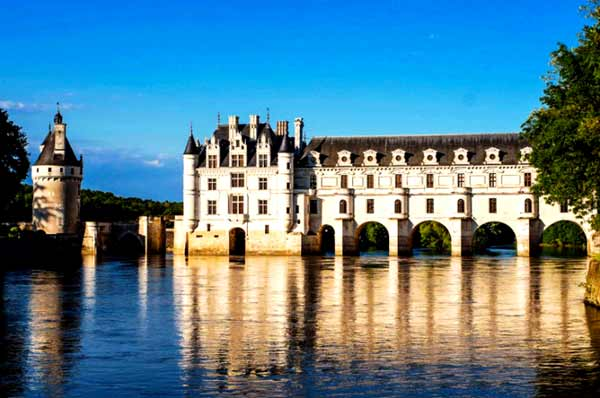 Beautiful palace on the river