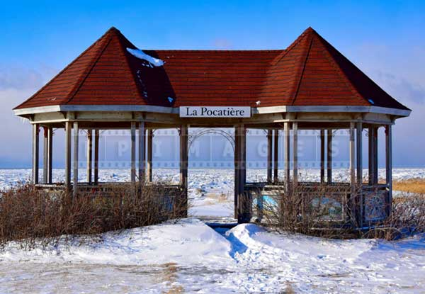 Observation gazebo at St. Lawrence shores