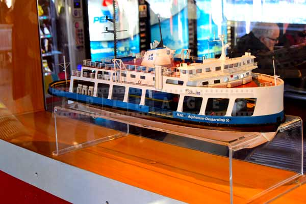 Model of a ferry
