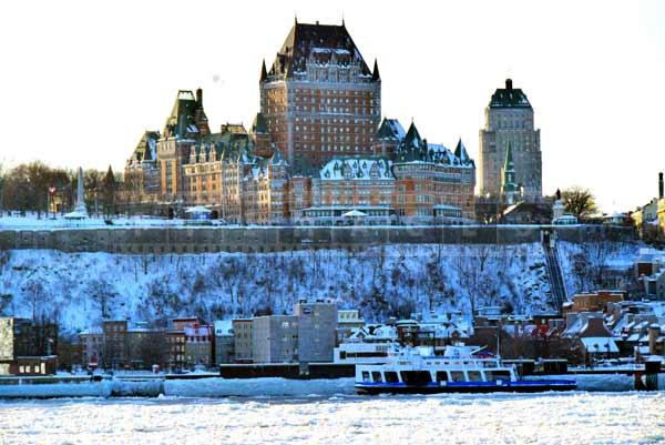 Chateau Frontenac dominates Quebec city cityscape