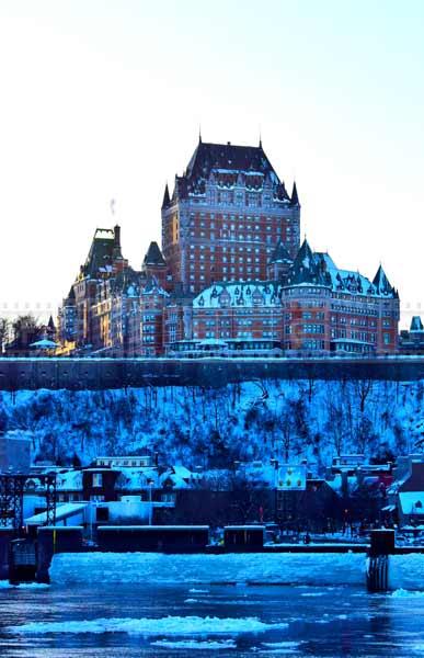 Famous Quebec hotel - Chateau Frontenac