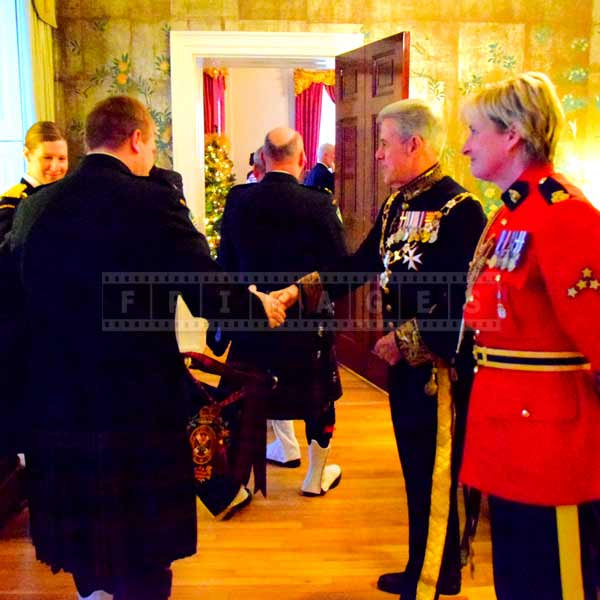 Nova Scotia Lieutenant Governor greeting visitors