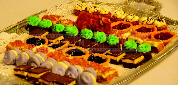 Sweet mini pastries served at Government House in Halifax, NS