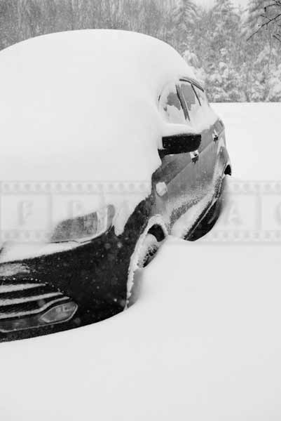 Car buried in snow, Nova Scotia winter picture