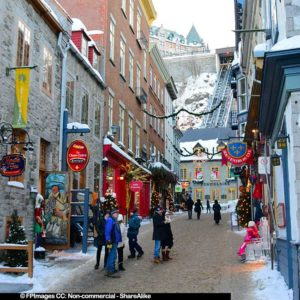 Old Quebec (Vieux Quebec) winter romantic getaway