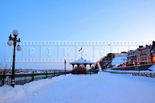 Governor's promenade and toboggan ride near Chateau Frontenac