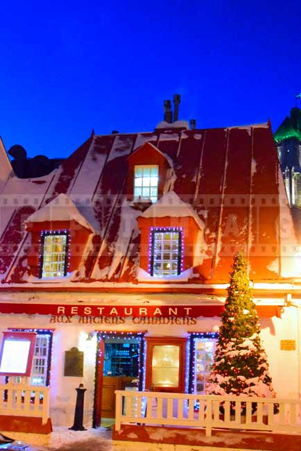 Aux Anciens Canadiens restaurant, romantic dinner idea in old Quebec
