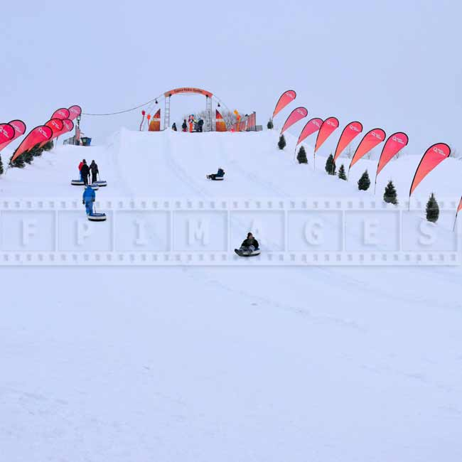 Snow tubing at Bonhomme winterland