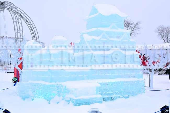 Ice castle - a copy of Japanese Himeji Castle