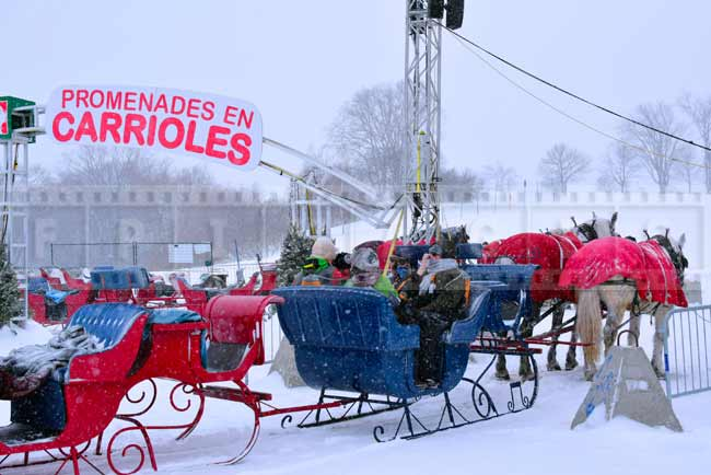 Sleigh rides in Quebec city