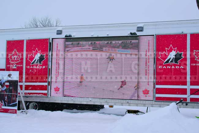 Hockey Canada truck, celebrating 100 years