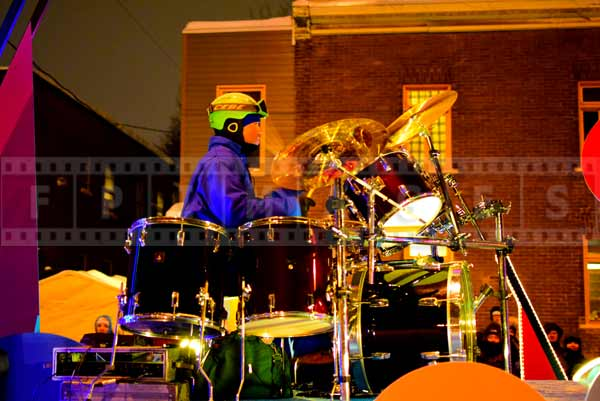 Drummer playing live music