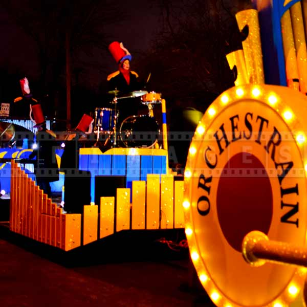 Musical Orchestra Train at the night parade