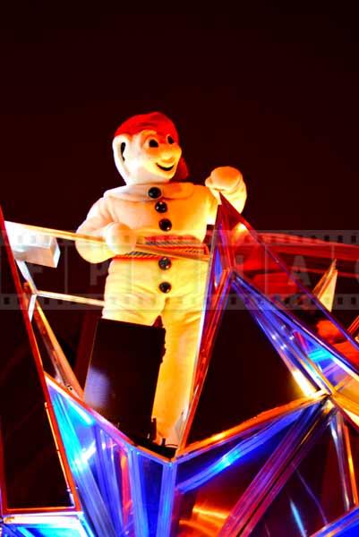 Snowman mascot Bonhomme Carnaval of Quebec winter carnival