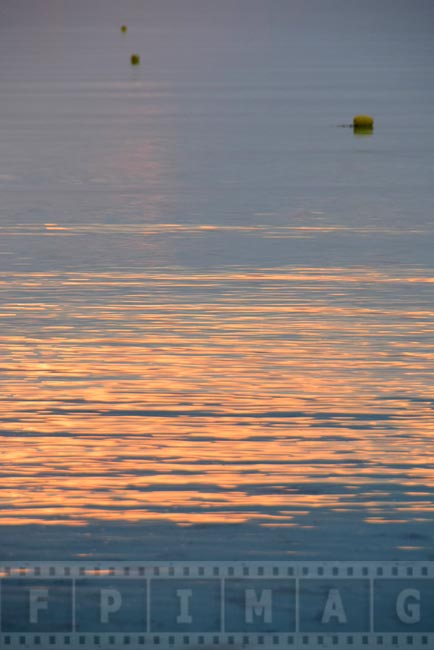 Sunrise reflections in the ocean