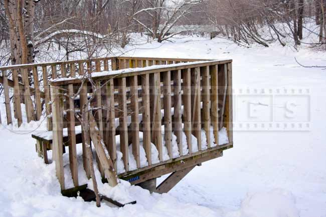 Deck over the frozen brook