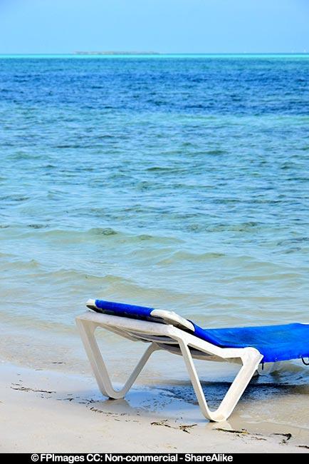 Beach scene, Iberostar Daiquiri all inclusive resort in Cuba