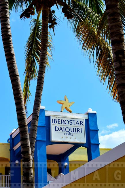 Iberostar Daiquiri hotel logo with palm trees