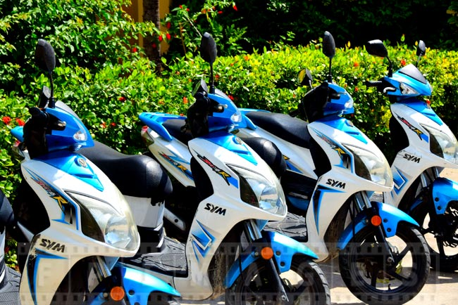 Rent scooters to go around the island