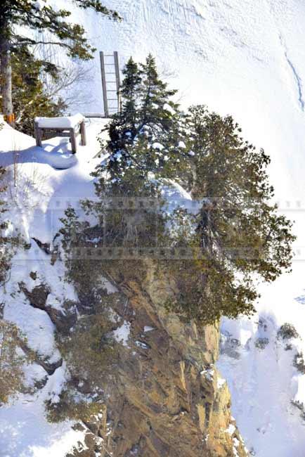 Via Ferrat -Extreme outdoor adventure - vertical steel ladders at the cliffs