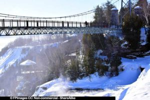 Montmorency waterfall suspension bridge