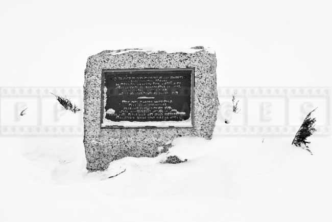 Memorial plaque at Battlefields Park