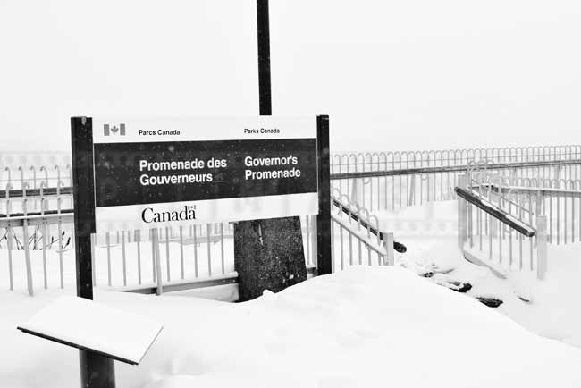 Governor's promenade sign by Parks Canada