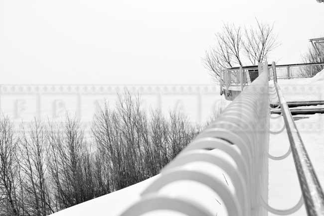 Governor's promenade runs along St. Lawrence river