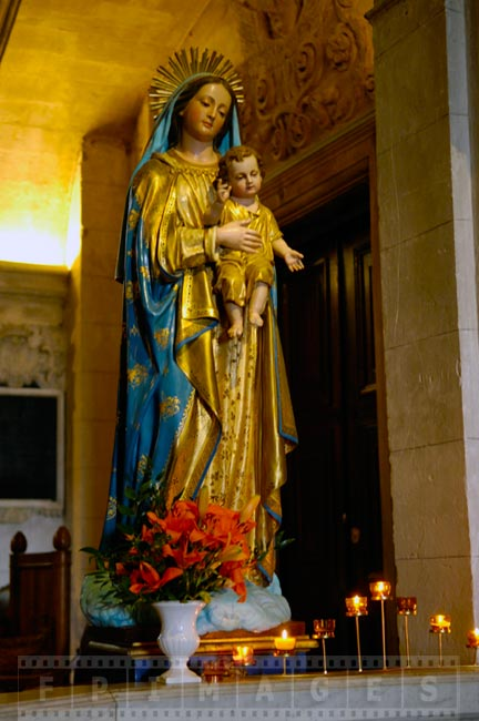 Virgin Mary statue in the church