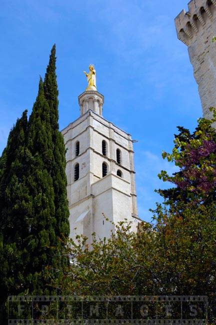 Vrigin Mary statue on top of Avignon Cathedral