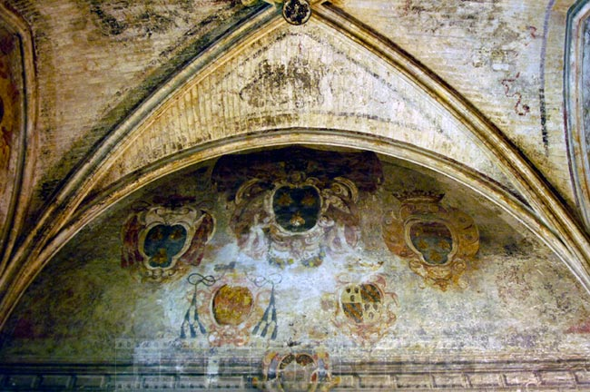 Old Frescoes in the Avignon Cathedral