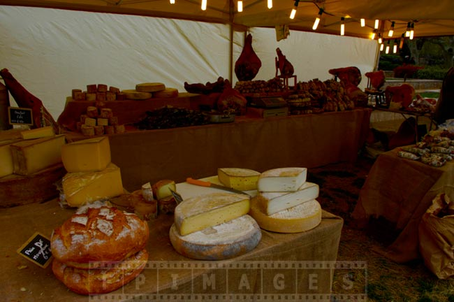 Fresh bread, cheese and meats, French food staples