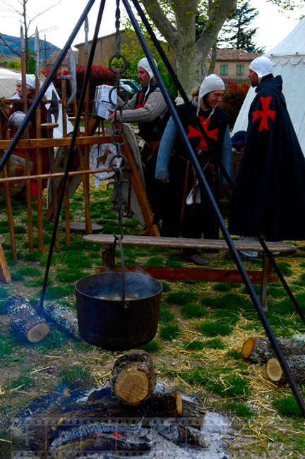 Pot boiling over the fire, Saint Maximin la Sainte Baume village festival