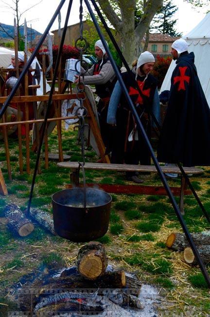 Pot boiling over the fire, Saint Maximin la Sainte Baume village festival