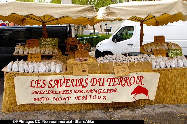 Local Farmers Market in Provence