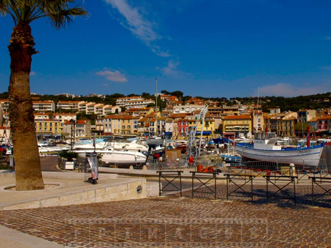 Port of Cassis, France cityscape