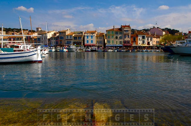 Cassis harbour and waterfront restaurants